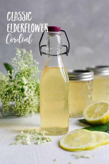 Classic elderflower cordial recipe. Beautifully fragrant and refreshing cordial, perfect for all of your summer drinks! #elderflowercordial #elderflower #homemade | via @annabanana.co