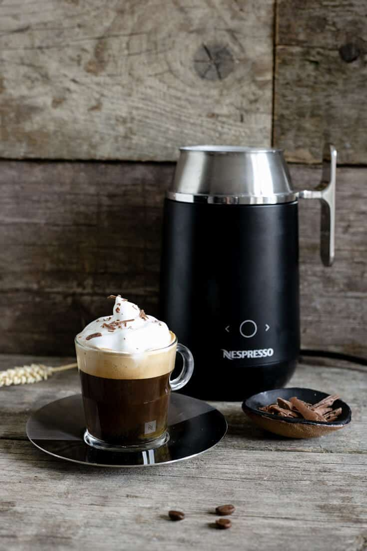 Nespresso Barista coffee recipes- delicious and silky smooth cafe Viennois and cold brew, iced Nitro! #coffee #nespresso #coffeerecipes