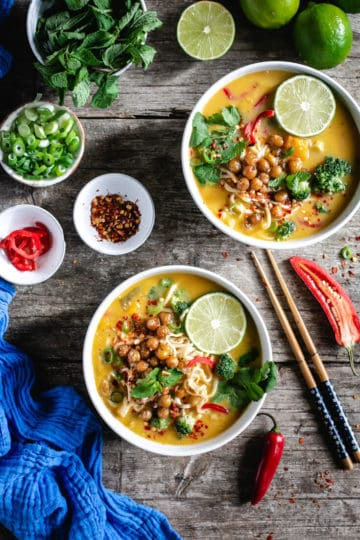 Fragrant and aromatic Thai style pumpkin laksa