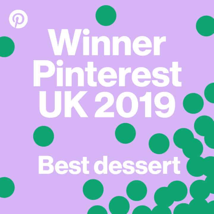 winner Pinterest best dessert badge with text overlay