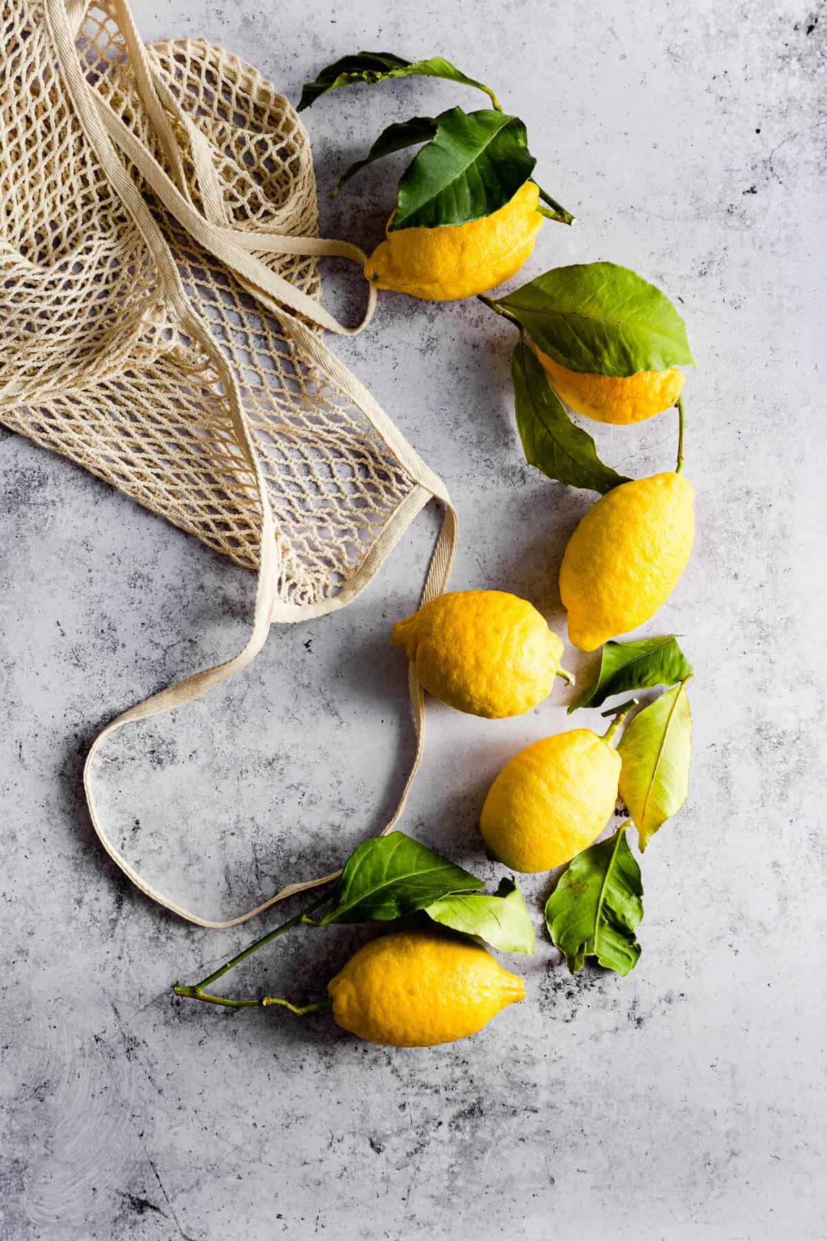 top view of some loose lemons
