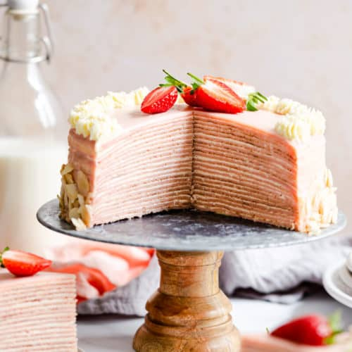 Strawberry Crepe Cake Anna Banana