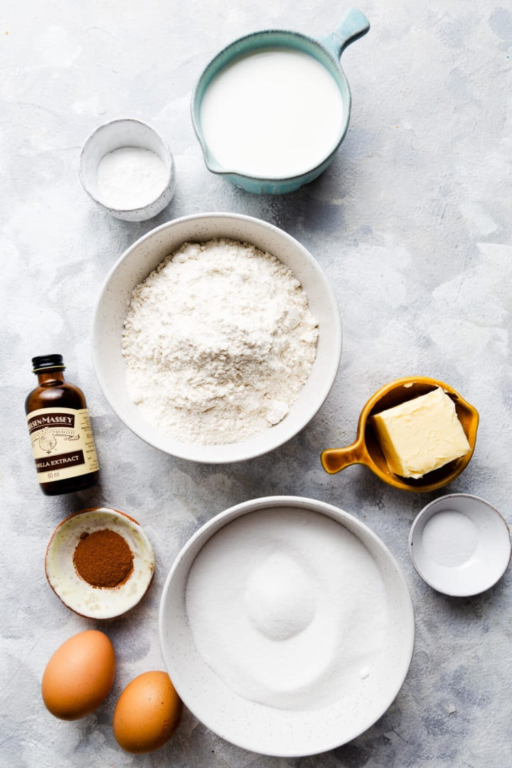 top view of the ingredients for cupcakes batter